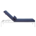 Persist Modern Navy + White Outdoor Chaise Lounge - Side View