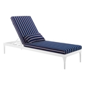 Persist Modern Navy + White Outdoor Chaise Lounge