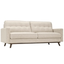 Perth Button Tufted Modern Beige Fabric Sofa