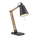 Petrina Wood + Metal Modern Desk Lamp