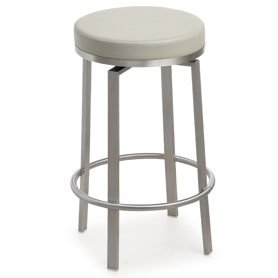 Modern Stools Petrino Pale Gray Counter Stool Eurway