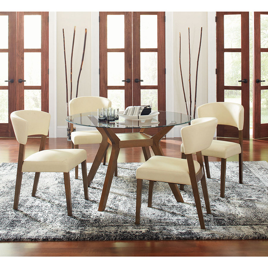 Peyton Contemporary Cream Dining Side Chair