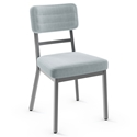 Phoebe Modern Dining Chair by Amisco in Magnetite + Powder Blue