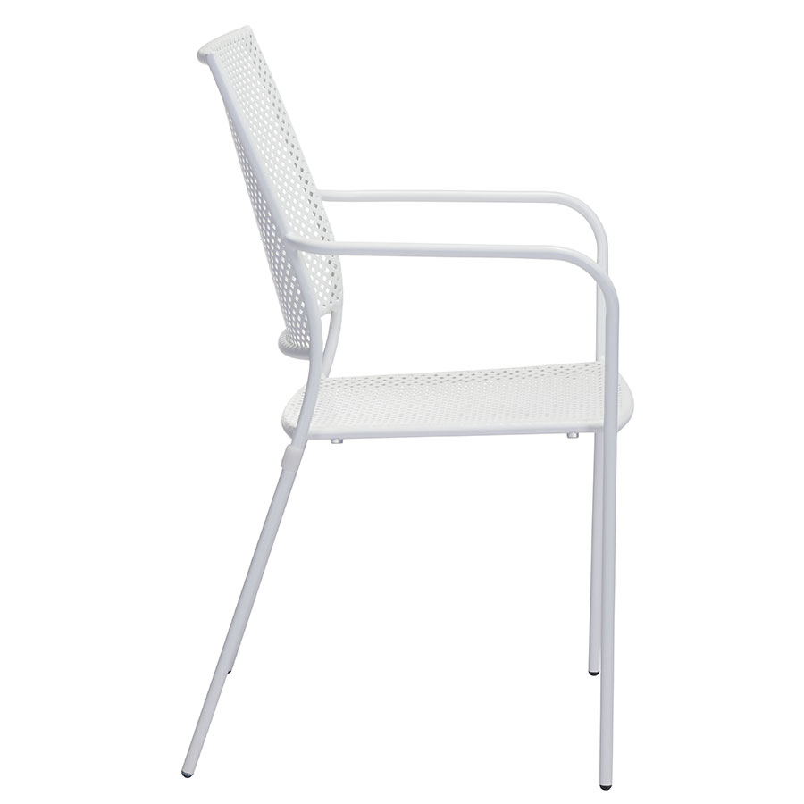 Phoebe White Contemporary Outdoor Dining Chair