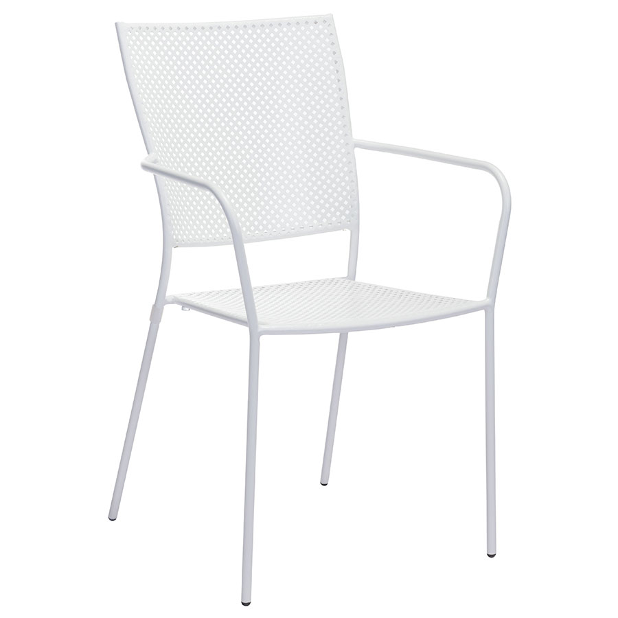 Phoebe White Modern Outdoor Dining Chair
