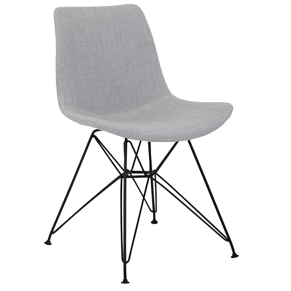 Phoenix Modern Gray Fabric Dining Chair