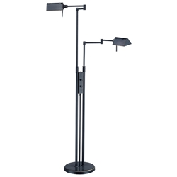 Phyllis Dark Bronze Modern Industrial Double Floor Lamp