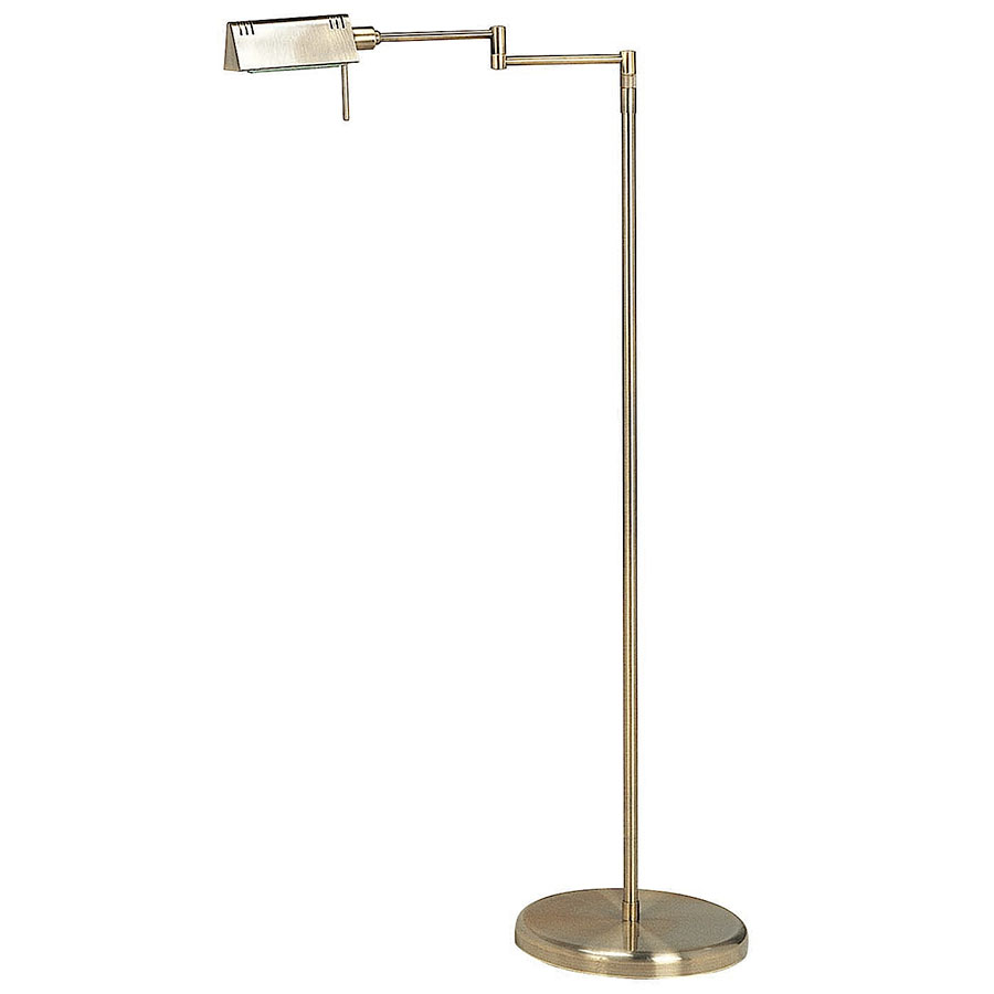 Phyllis Antique Brass Modern Floor Lamp