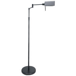Phyllis Black Modern Industrial Floor Lamp