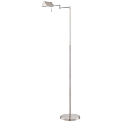 Phyllis Polished Steel Modern Floor Lamp