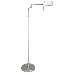 Phyllis Satin Steel Modern Floor Lamp