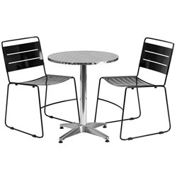 Pierce-Calais Black Round Bistro Set