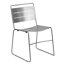 Pierce Modern Indoor/Outdoor Dining Chair in Silver