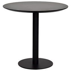 Paras Modern Black 32-in Round Dining Table