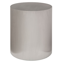Pineland Steel Cylindrical Modern End Table