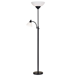 Pinnacle Modern Black Steel Floor Lamp