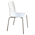 Piper White + Chrome Modern Dining Chair by Pezzan