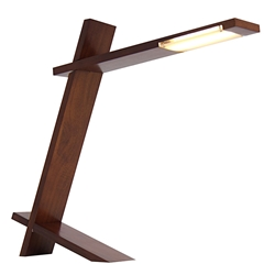 Placid Walnut LED Modern Desk Lamp