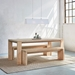 Plank Contemporary Bench by Gus Modern in White Wash - Room Setting