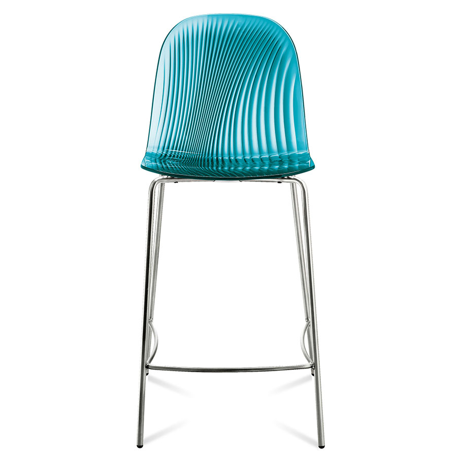 Modern Counter Stools Plato Blue Stool Eurway