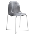 Playa Modern Stacking Dining Chair Gray by Domitalia
