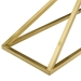 Poland Modern Gold Steel Console Table - Base Detail