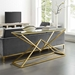 Poland Contemporary Gold Steel Console Table