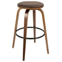 Polaris Modern Walnut Bar Stool