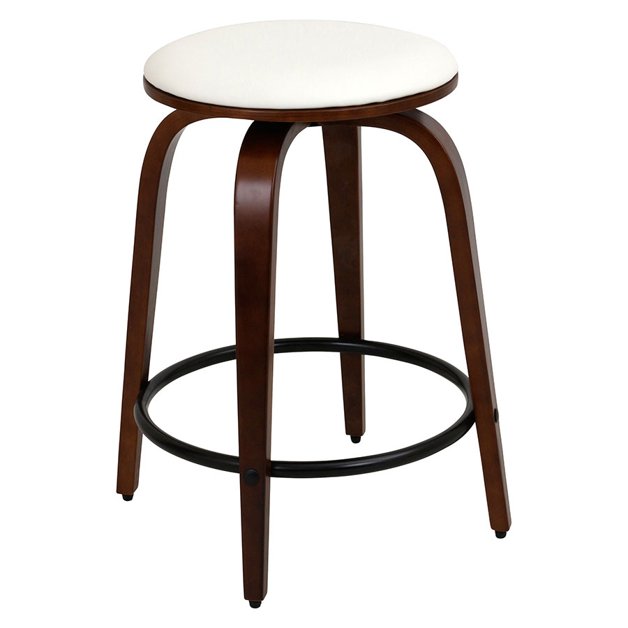 Polaris Modern Cherry Counter Stool