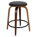 Polaris Modern Walnut Counter Stool