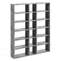 "Pombal 72"" Faux Concrete Finish Modern Bookcase"