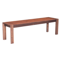 Pontiff Chestnut Finish Wood Modern Dining Bench