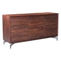 Pontiff Chestnut Finish + Stainless Steel Base Modern Buffet