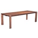 Pontiff Chestnut Finish Rectangle Modern Extension Dining Table