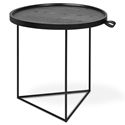Gus* Modern Porter Contemporary End Table in Black Ash