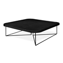 Gus* Modern Porter Contemporary Black Ash Square Coffee Table