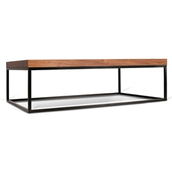 Prairie Walnut + Black Modern Coffee Table
