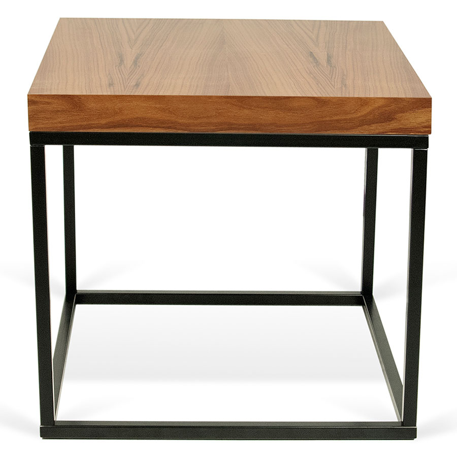 ... Prairie Walnut + Black Square Modern Side Table By TemaHome ...