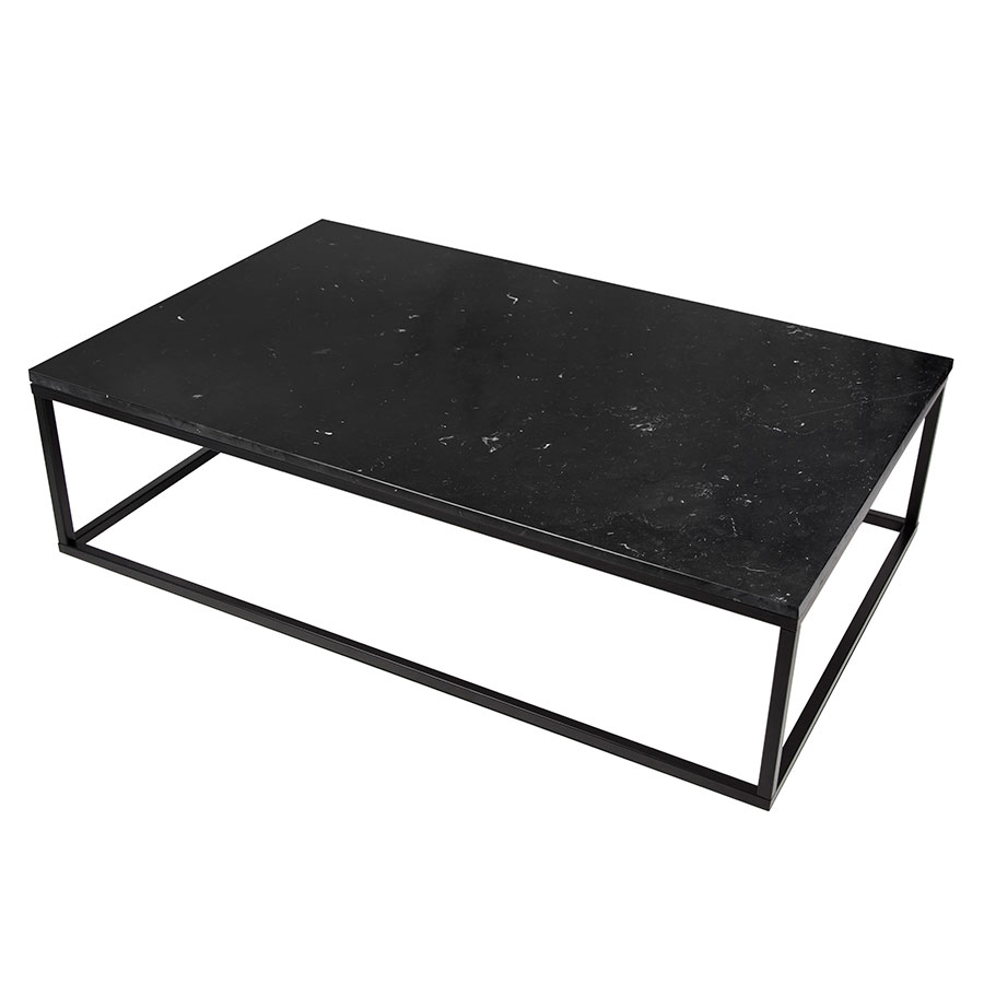 ... Prairie Black Marble Contemporary Coffee Table Up ... - Prairie Black Marble Coffee Table Eurway