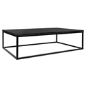 Prairie Black Marble Contemporary Coffee Table