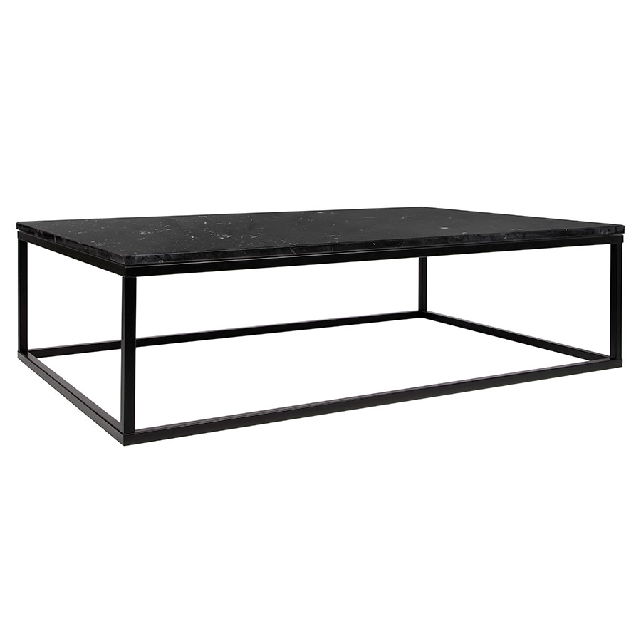 Prairie Black Marble Contemporary Coffee Table - Prairie Black Marble Coffee Table Eurway