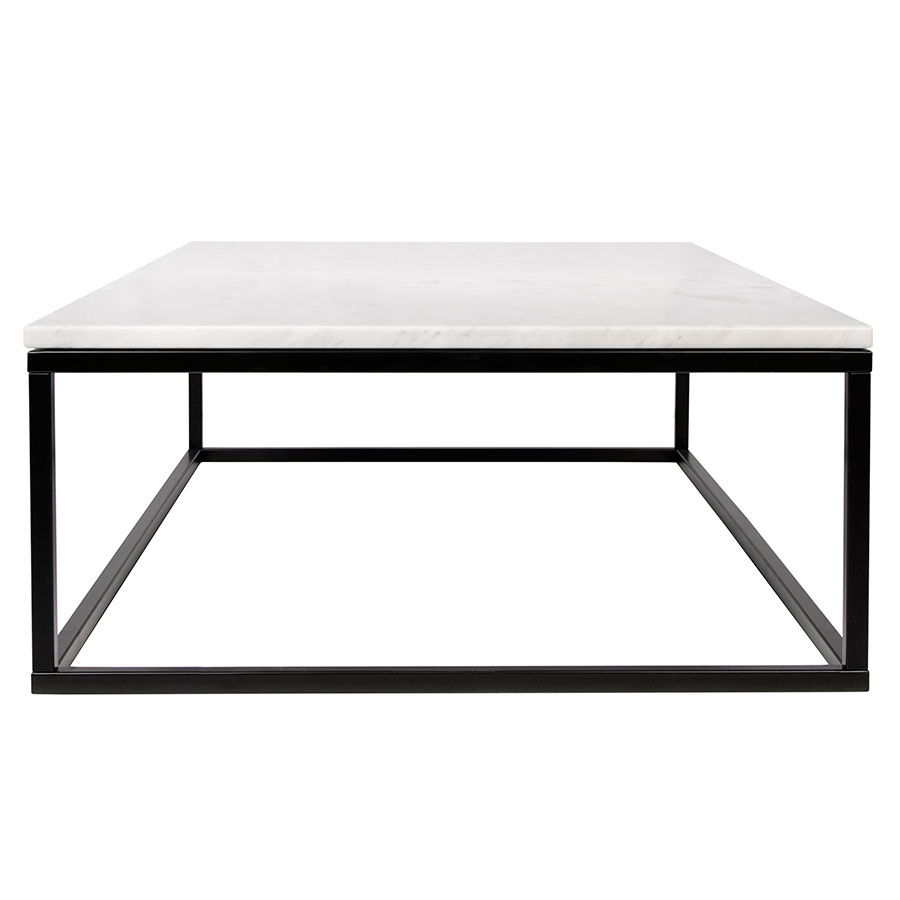 Prairie White Marble Contemporary Coffee Table Side