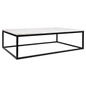 Prairie White Marble Contemporary Coffee Table by TemaHome