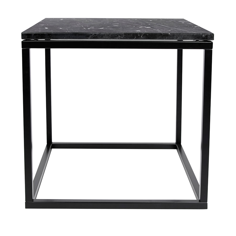 Prairie Black Marble Contemporary End Table Front