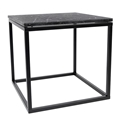 Prairie Black Marble Contemporary End Table by TemaHome