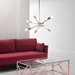 Praveen Gold Metal Contemporary Ceiling Lamp
