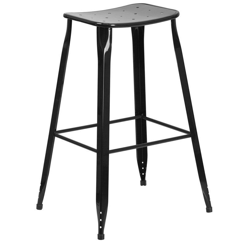Premier Black Indoor Outdoor Bar Stool