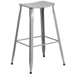 Premier Silver Indoor Outdoor Bar Stool