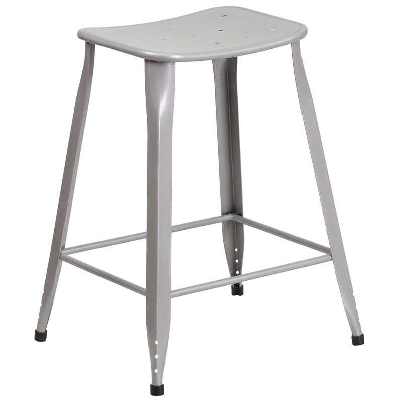 Premier Silver Indoor Outdoor Counter Stool