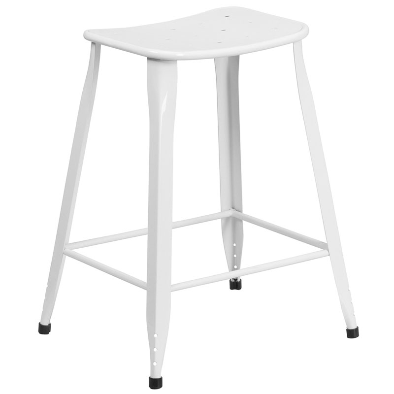 Premier White Indoor Outdoor Counter Stool